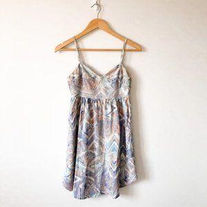 Aritzia TNA Pastel Geometric Bustier Cotton Dress